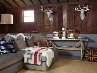 Rustic Meets Eclectic Living Room