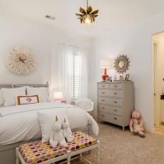 Pretty Contemporary Girl's Room with Whimsical Accents