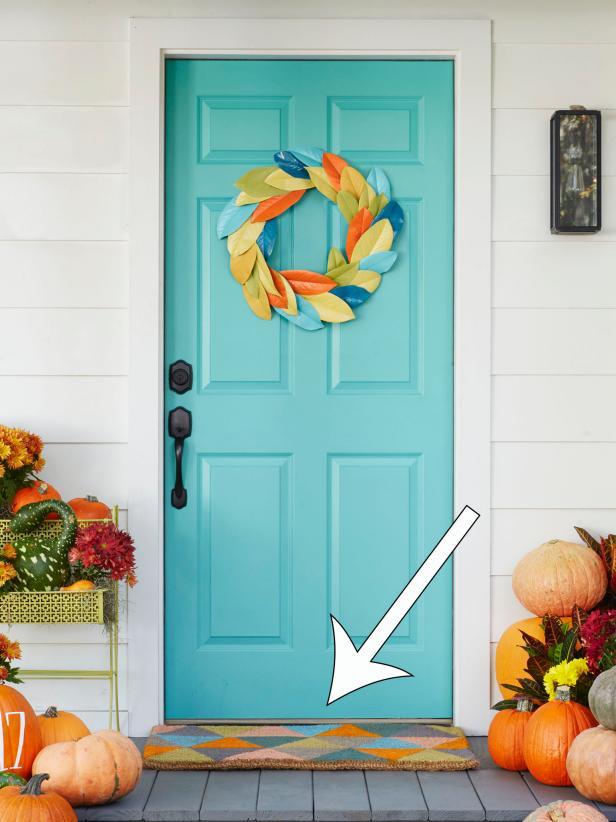 DIY Fall Doormat