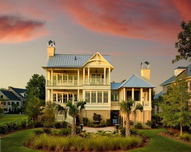 Charming Coastal House at Twilight