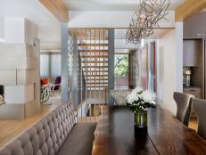 Contemporary Dining Room with Banquette