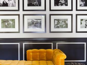 Elegant Black and White Living Room