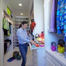 Designer Lisa Adams in Finished Walk-in Closet