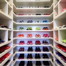 Spectacular Sneaker Display in Luxury Walk-In Closet