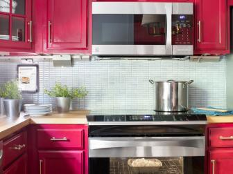 Stainless Steel Appliances in Transitional Kitchen
