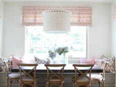 Warm, Comfortable Breakfast Nook Evokes Coastal Style