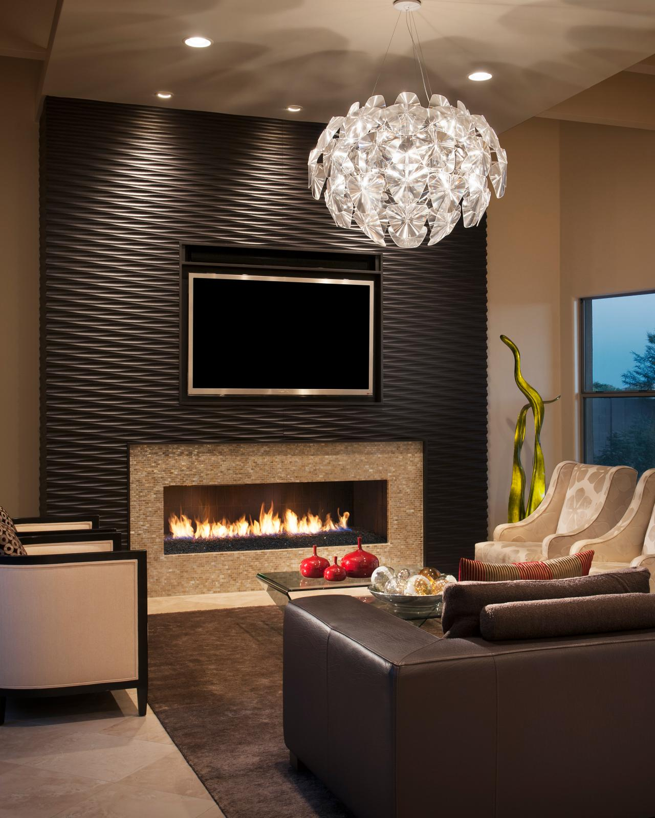 Photo page hgtv - Fireplace living room modern ...