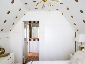 White and Gold Create Bright, Bold Bedroom Design