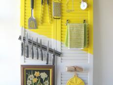 Slatted Door Kitchen Storage