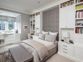 Gray Girl's Bedroom is Sophisticated, Eclectic