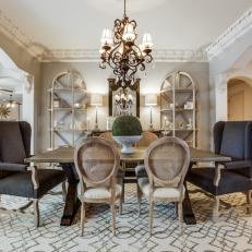 Gray French Country Dining Room Photos HGTV