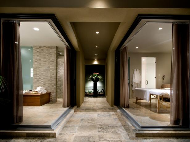 Contemporary Home Spa Enables Staycations