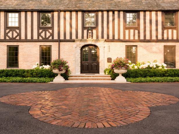 Tudor Exterior with Pavers
