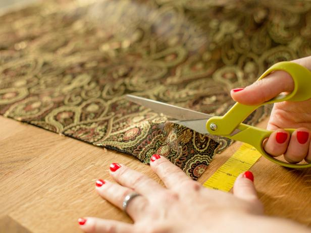 Tinsel Ornament Garland - Cut Fabric Strips and Ribbon