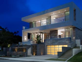 Modern House with Stone and Concrete Facade