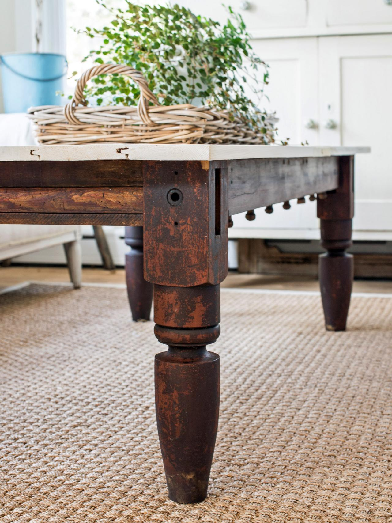 How to make an upcycled coffee table hgtv apply finish geotapseo Choice Image