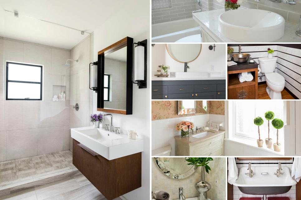 Before And After Bathroom Remodels Enchanting Beforeandafter Bathroom Remodels On A Budget  Hgtv Decorating Design