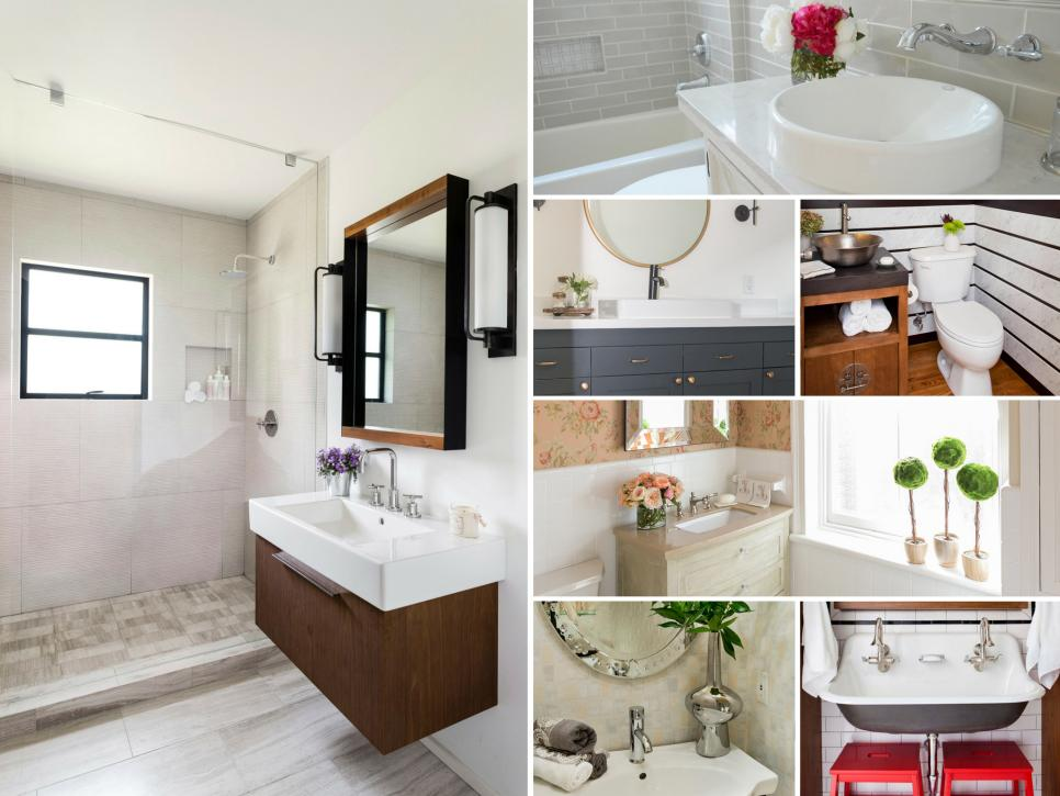 Before and after bathroom remodels on a budget hgtv for Bathroom kitchen remodel