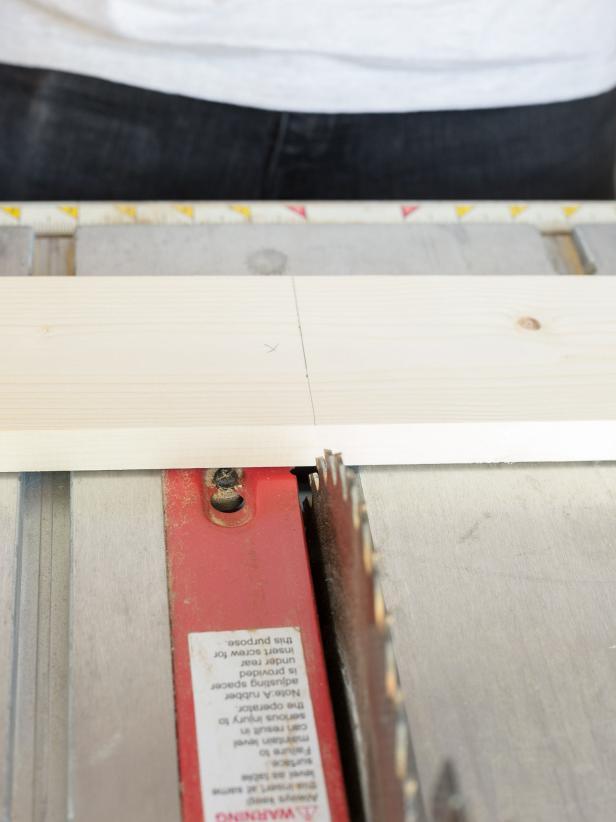 DIY Rustic-Industrial Shoe Storage Bench: Cut Wood for Shelves