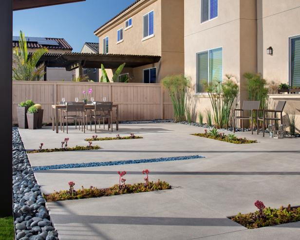 Drought Resistant Plants in In-Ground Planters