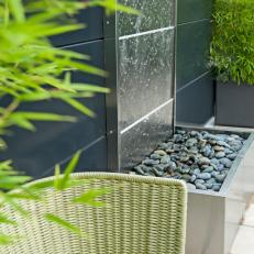 Stainless Steel Water Wall Feature