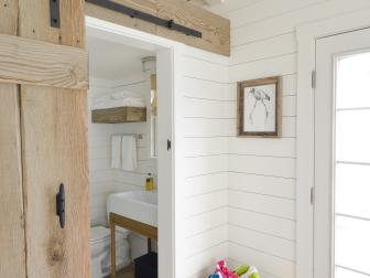 Barn Door in a White Cottage