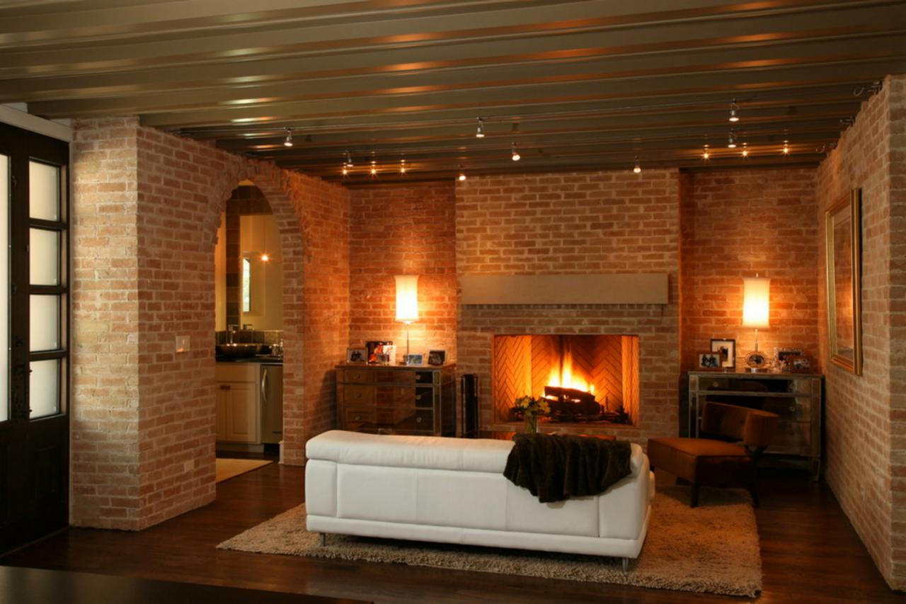 delighful living room ideas with brick fireplace crazy wonderful
