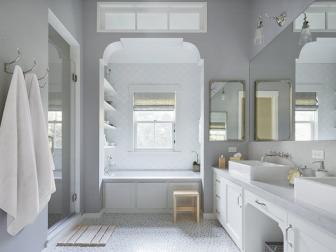 Transitional Master Bath in Modern Farmhouse