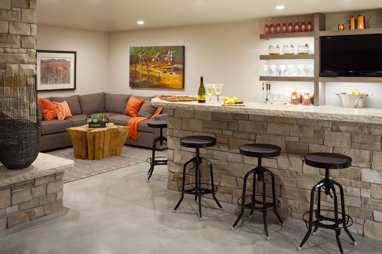 diy basement bar.  Basement Bar Ideas and Designs Pictures Options Tips HGTV