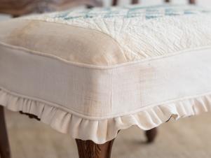 Slipcover an Ottoman