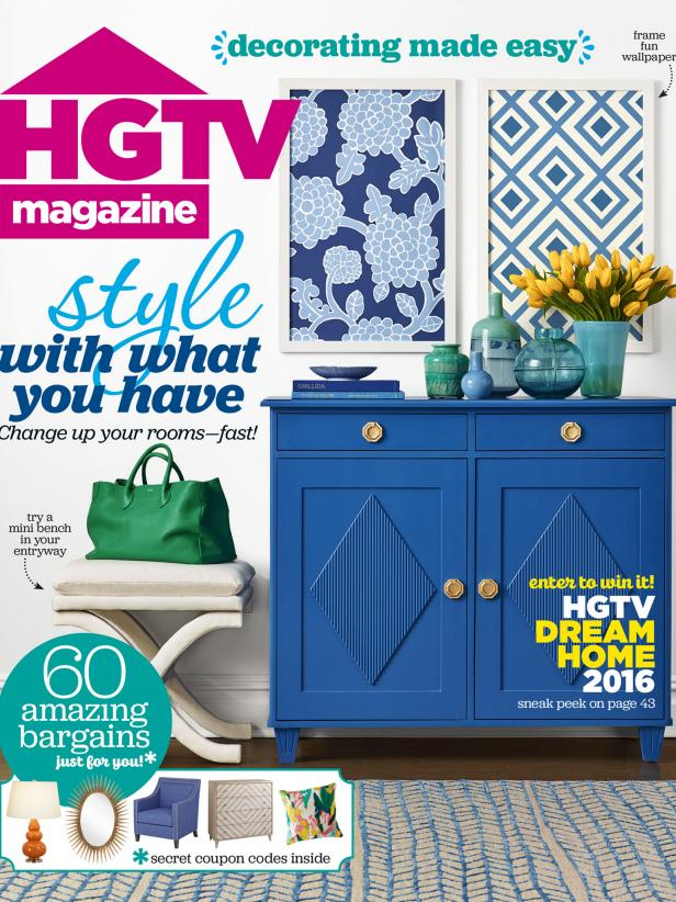 HGTV Magazine January/February 2016 Cover