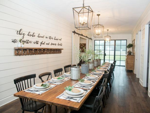 Barn Home in the Country:  Custom Farm Dining Table