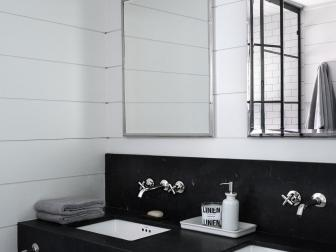 Black and White Country Bathroom