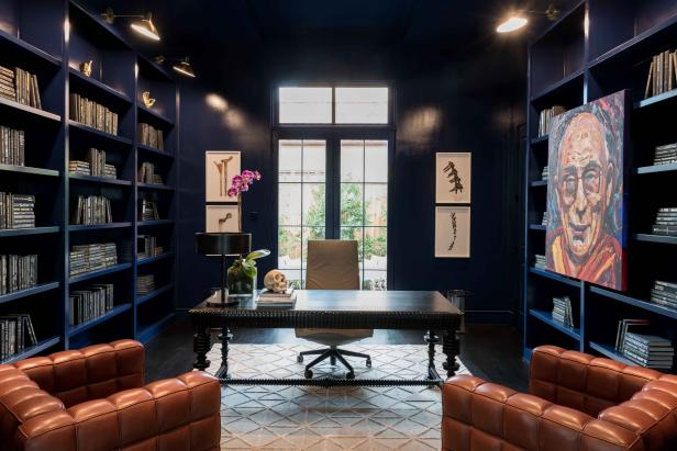 Contemporary yet Masculine Library