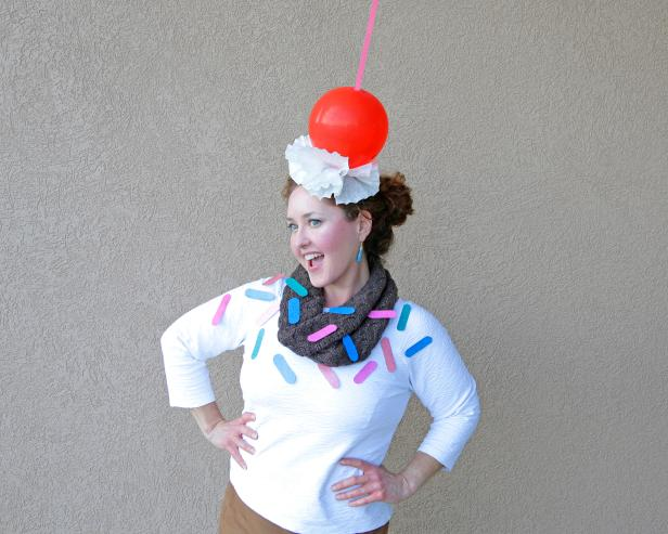 DIY Ice Cream Sundae Costume