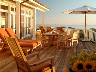 Beach House Back Deck with Ocean View
