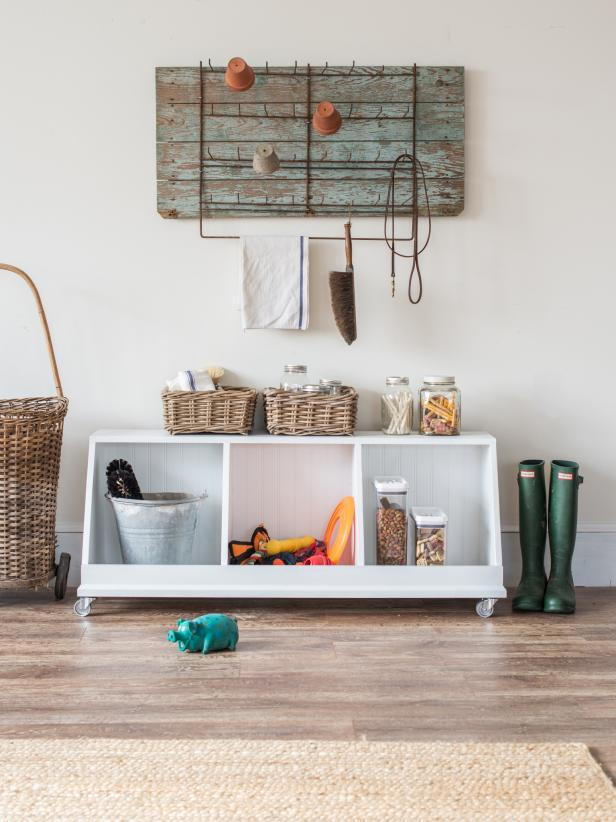 "Good storage pieces are a must when trying to create a beautiful, functional home.  This rolling ""cubby"" unit was designed to be a multi-functional family storage piece for several stages of life.  It's great for pet toys and gear, kid/baby storage for toys and books, and even in a mudroom or closet for shoes."
