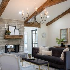 vaulted living room. Open Concept Living Room With Nearby Sunroom and Exposed Beam Vaulted  Ceilings Photos HGTV