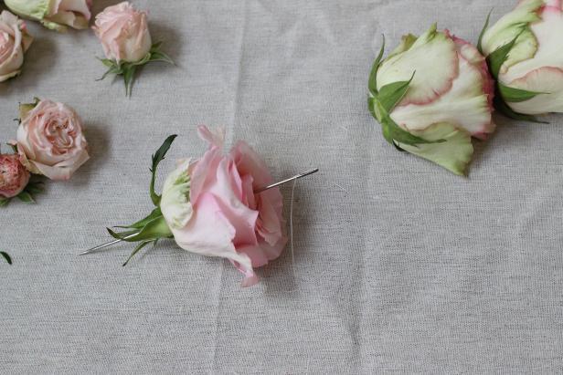 DIY Rose Garland for Rose Themed Baby Shower