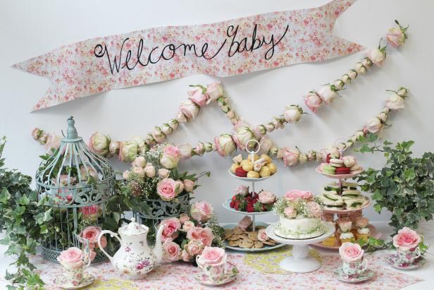 Rose Tea Party Themed Baby Shower
