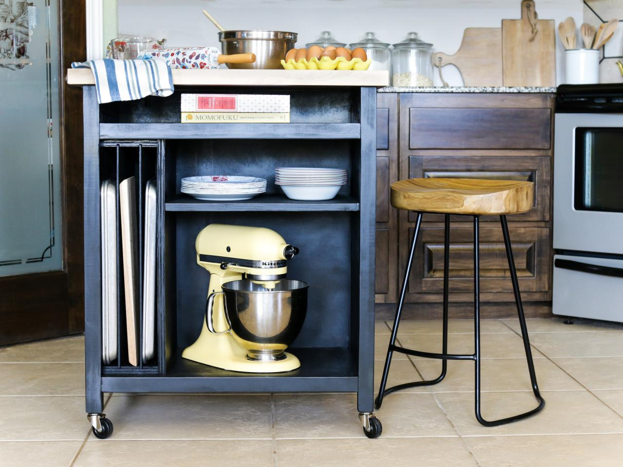 kitchen islands wheels pinterest - photo #5