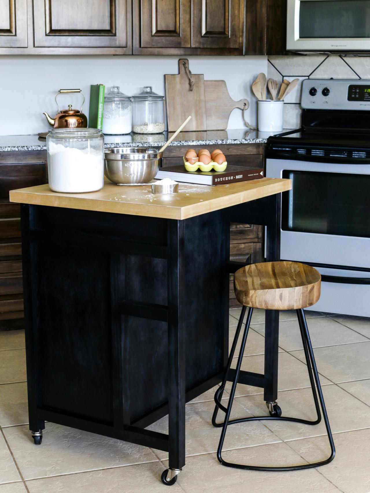 kitchen islands wheels pinterest - photo #41