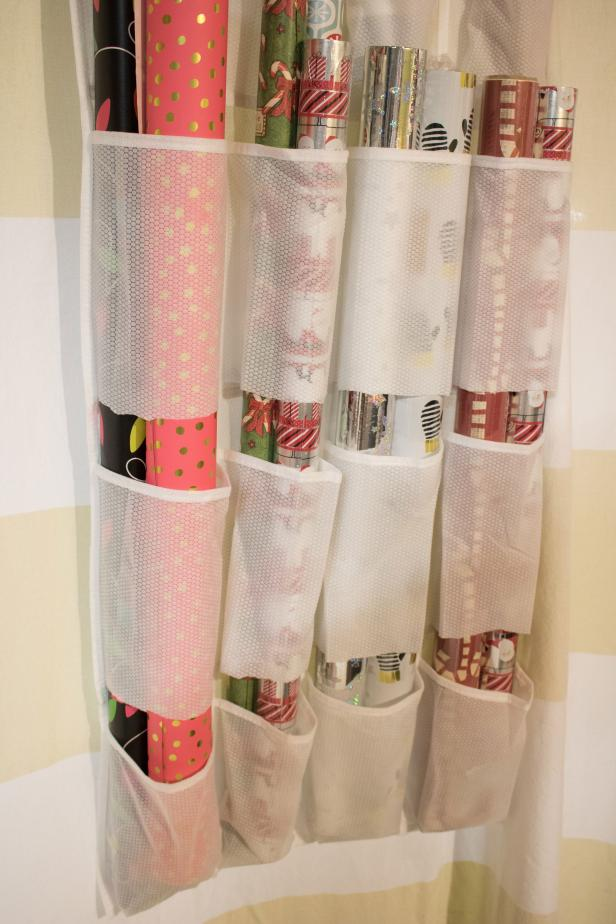 An Over-the-Door System For Organizing Wrapping Paper