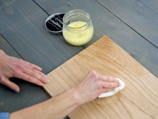 Please a variety of partygoers' palates by sealing a hardwood board to create a food-safe way to serve up a delicious assortment of cured meats, cheeses, nuts and fresh fruit.