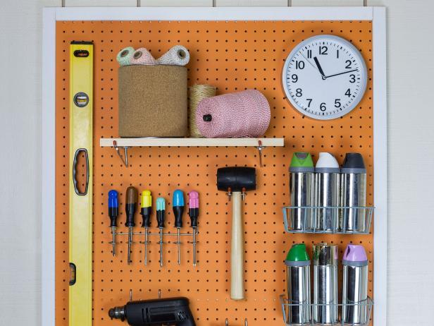 Pegboard Installation and Organization