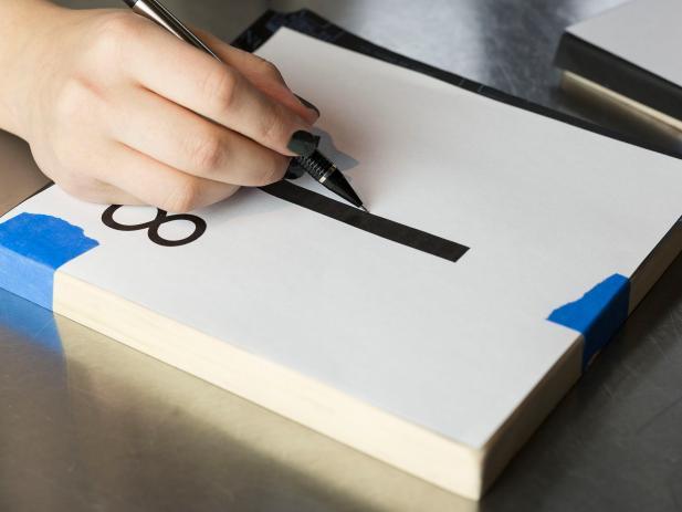 Create scrabble letter wall art