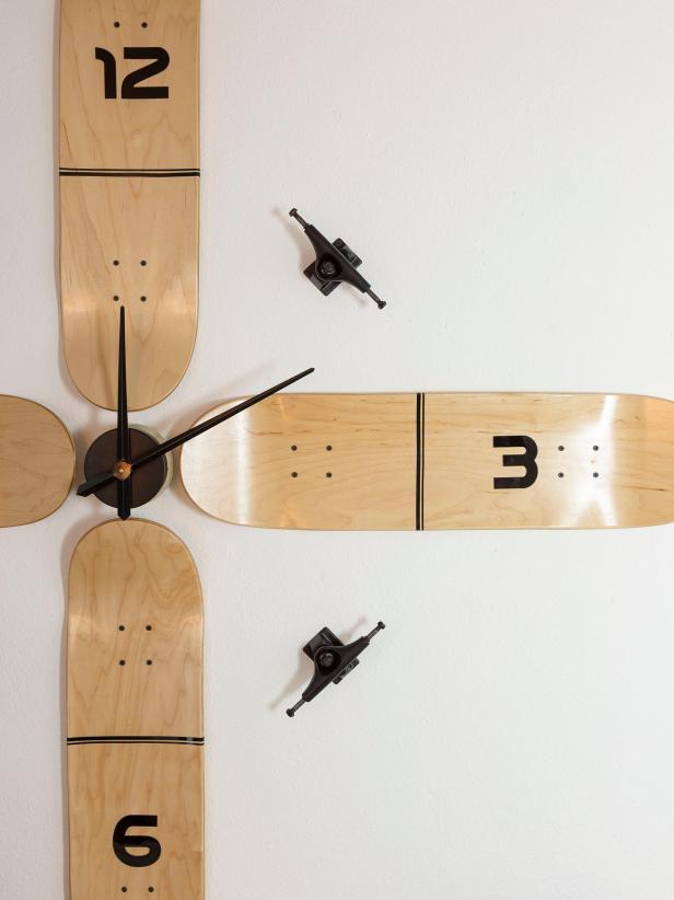 Large Scale Skateboard Wall Clock