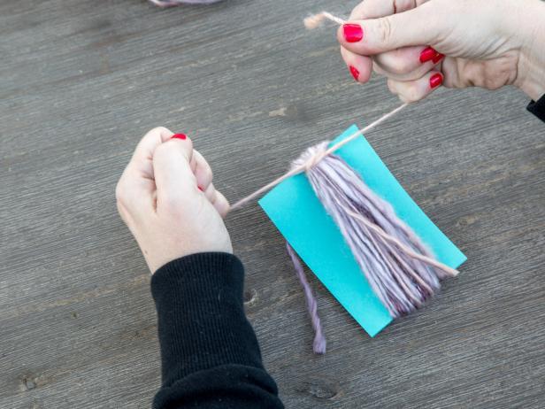 DIY Yarn Tassels: Tie Additional Piece of Yarn