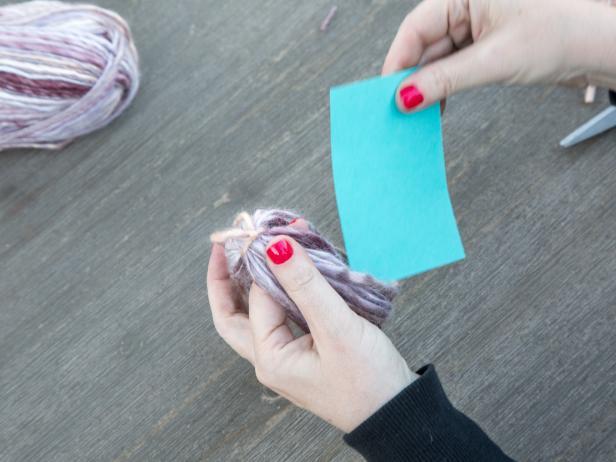 DIY Yarn Tassels: Remove Tassel From Cardboard