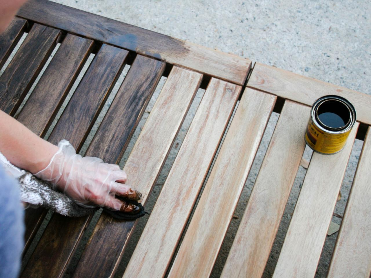 Stain It   How To Refinish Outdoor Wood Furniture HGTV   Outdoor Wood  Furniture Stain Outdoor. How To Stain Outdoor Wood Furniture   Outdoor Goods